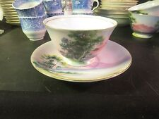 Sango SAN57  Cup & Saucer Made in Japan Pink Mountain Scene