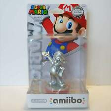 Silver Mario Amiibo - Rare Edition Figure - Nintendo USA Super Mario Party - NEW