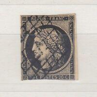 France 1850 20c Ceres Imperf Good Margins SG9 Used J4229