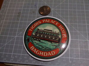 TIGRIS PALACE HOTEL VINTAGE LOOK GLOSSY Sticker Decal Luggage Laptop Sticker NEW