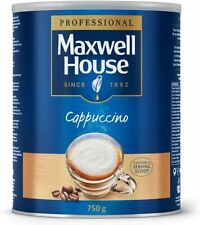 Maxwell House Instant Cappuccino 750g with Serving Scoop 44 Cups Coffee Tin