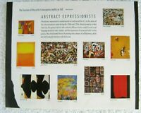 2009 'Abstract Expressionists' USPS Sheet 44 Cent stamps $0 Ship