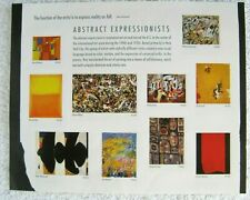 2009 'Abstract Expressionists' USPS 10 stamp Sheet 44 Cent $0 Ship