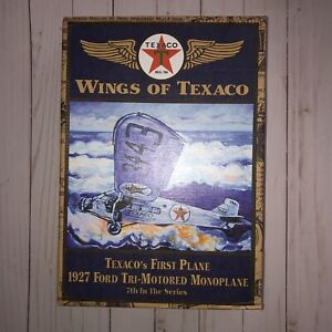 WINGS OF TEXACO - 1927 Ford Tri-Motor Monoplane Coin Bank - #7 Ertl NIB