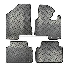 Kia Sportage 2010 to 2016 Tailored 4 Piece Rubber Car Mat Set 3 Round Clips