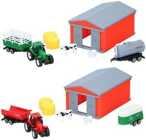 Farm Barn House With Tractor and Animals Barn Yard Kids Pretend Play
