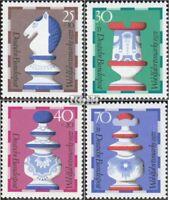 BRD 742-745 (kompl.Ausgabe) postfrisch 1972 Wohlfahrt: Schachfiguren