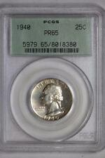 1940 Silver Proof Washington Quarter PR65 PCGS 25c US Mint Coin Old Green Holder