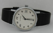 Vintage Bucherer Hand Winding Stainless Steel White Dial 34mm Circa 1960s Watch