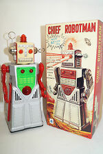 CHIEF ROBOTMAN HA HA TOY silber Blechspielzeug Space Roboter China Re-Issue