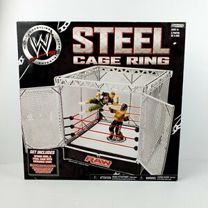 WWE RAW 2007 Jakks Pacific Steel Cage Ring • Brand New in Box • RARE