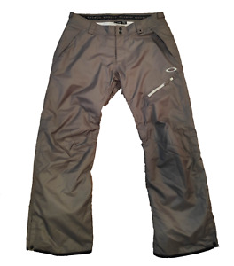 Oakley Thinsulate Snowboard Ski Pants XL Men's Gray Snow Waterproof Suit Adjust