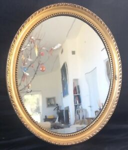 Antique English Gilt Oval Mirror circa 1820 Original.37 X 31.5 cm