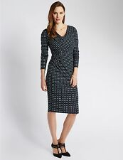Marks and Spencer Viscose Geometric Dresses for Women