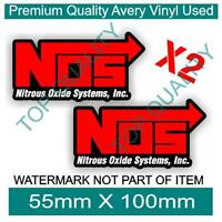 NOS NITROUS BOTTLE DECAL STICKER SUPERCHARGER HOT ROD DRIFT RALLY DECAL STICKERS