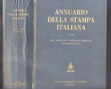 Annuario della Stampa Italiana 1937 - 1938 Nicola Zanichelli   R