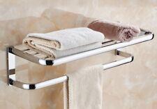 Polished Chrome Bathroom Towel Rail Holder Rack Bar Shelf Wall Mounted mba831