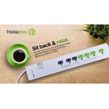 5 -Pack Trickestar TS1104 7-Outlet Advanced Power Strip - Energy Saving PC+TV
