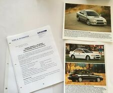2001 Subaru Impreza and RS Car Product Media Guide Brochure and print