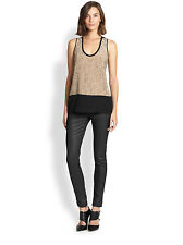 NWT EILEEN FISHER Rosewater Sequined Rivulet on Silk Crepe Tank Top S/P R$298