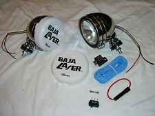 "Stainless Steel 5"" Baja KC Style Off Road Lights + Switch Kit 100W truck jeep SS"