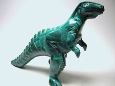 Malachite Tyrannosaurus Rex Dinosaur, Large and Very Rare (Zaire) M329