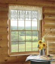 Pinecone White Lace Window Valance by Heritage Lace