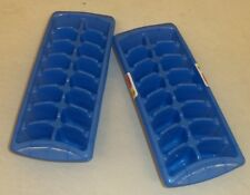 RUBBERMAID 2879-RD STACK & NEST ICE CUBE TRAYS SET OF TWO NEW BLUE FREE