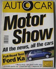 AUTOCAR magazine 16/10/1996 featuring Lamborghini Miura, Thrust SSC, Ford