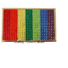 Rainbow Crystal Gold Metal Business Card Case Holder with Swarovski Crystals