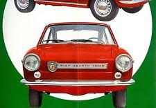 "1966 - ABARTH Fiat ""OT 1000"" - Spider / Coupé - Italian sales brochure, folder"
