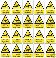 20 Auto Adhesivo Vinilo Calcomanías Pegatinas de Advertencia de seguridad CCTV Cámara Seguridad signos