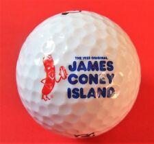 Pelota de golf con logo-James Coney Island-Hot Dogs EE. UU. - golf logotipo Ball-talismán