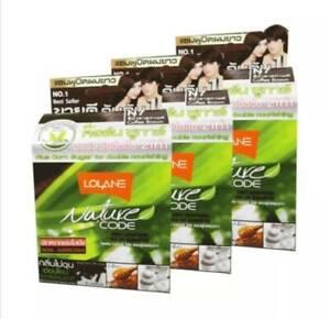 3 boxes pack Lolane nature code shampoo Lolane nature code shampoo for white hai