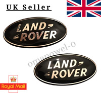 2 X LAND ROVER BLACK GRILLE & BOOT BADGE EVOQUE RANGE ROVER SPORT DEFENDER 86MM