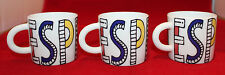 Cathay Pacific Airways Airline Porcelain 3 Espresso Coffee Mug Cups Set Colorful