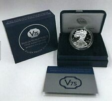 2O2O W END OF WORLD WAR WW2 ANNIVERSARY SILVER EAGLE PRIVY V75 PROOF IN OGP