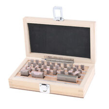 Pack of 32 Steel 1-50mm Gauge Block Kits High Precision with Wooden Case