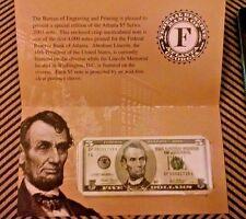 2003 $5 Atlanta Fed District series 2003 DF 00001739 A LOW SERIAL NUMBER! Five $