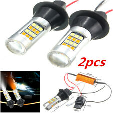2x High Power 7443 Switchback Samsung Dual-Color White / Amber LED Signal Bulbs