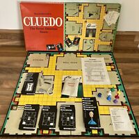 Cluedo Fun Family Detective Board Game Waddingtons 1965 VGC RARE Vintage Classic