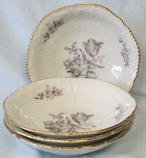 Rosenthal Sanssouci Grey Rose Fruit or Dessert Bowl set of 4