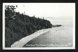 WA CAmano Island RPPC 1950's CAMA BEACH RESORT from MARINE VIEW TRAIL Ellis 3986