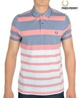 Fred Perry Stripe Oxford Pique Polo Shirt Men's Short Sleeved Top M7202-224
