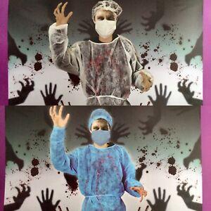 BNWT Biohazard Or Surgeon Halloween Fancy Dress Outfit Costume
