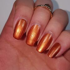 GOLDEN TAN COPPER Shiny Nail Polish 15ml indie 5-free handmade cruelty-free
