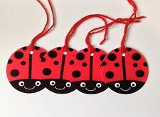 6x Gift Tags Tag Ladybird Birthday Party Gift Wedding Christmas