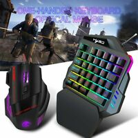 35Key One-Handed Game Keyboard & Mouse Backlit Keypad For PUBG LOL Dota Fortnite
