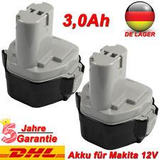 3.0AH 12V Akku für Makita 1233 1220 1222 1234 1235F 1235A 192598-2 Ni-MH 2 Stück