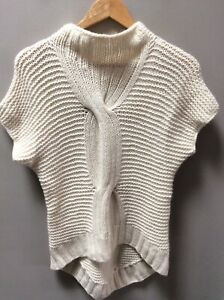 SASS & BIDE Pure 100% Cashmere Cable Knit Top Size Small